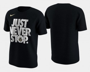 Purdue Boilermakers T-Shirt For Men's Basketball Tournament Just Never Stop March Madness Selection Sunday Black