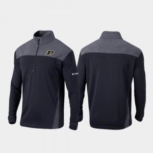 Purdue Boilermakers Jacket Quarter-Zip Pullover Black Men Omni-Wick Standard