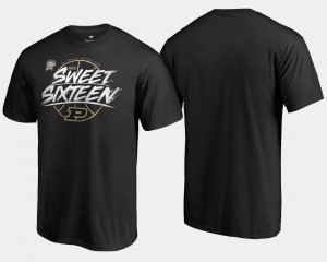 Purdue Boilermakers T-Shirt For Men's 2018 March Madness Basketball Tournament Backdoor Sweet 16 Bound Black