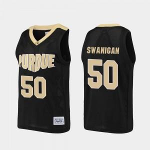 Purdue Boilermakers Caleb Swanigan Jersey Basketball For Men Alumni #50 Black