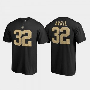 Purdue Boilermakers Cliff Avril T-Shirt Black Name & Number Mens College Legends #32