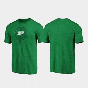 Purdue Boilermakers T-Shirt Men's St. Patrick's Day Green Celtic Charm Tri-Blend