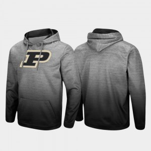 Purdue Boilermakers Hoodie For Men's Pullover Heathered Gray Sitwell Sublimated