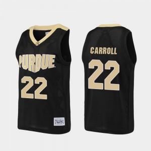 Purdue Boilermakers Joe Barry Carroll Jersey Men Alumni #22 Basketball Black