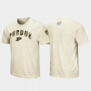 Purdue Boilermakers T-Shirt For Men Desert Camo Oatmeal OHT Military Appreciation