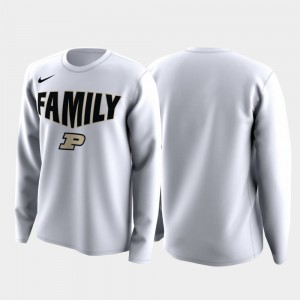 Purdue Boilermakers T-Shirt March Madness Legend Basketball Long Sleeve Family on Court White Men
