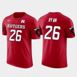 Rutgers Scarlet Knights Logan Ryan T-Shirt Red For Men's #26 Future Stars Tennessee Titans Football