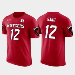 Rutgers Scarlet Knights Mohamed Sanu T-Shirt #12 Future Stars Red Men's Atlanta Falcons Football