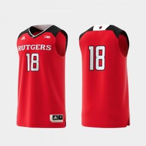 Rutgers Scarlet Knights Jersey Mens #18 Basketball Swingman College Replica Scarlet
