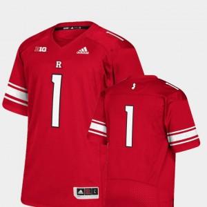Rutgers Scarlet Knights Jersey College Football Premier Scarlet Men #1
