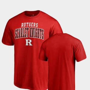 Rutgers Scarlet Knights T-Shirt Scarlet For Men's Square Up