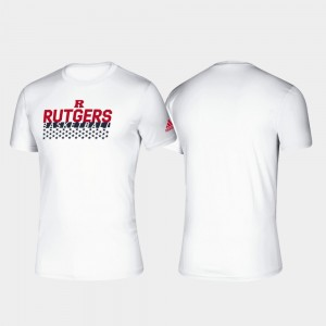 Rutgers Scarlet Knights T-Shirt Basketball Salute to Service White Climalite For Men's