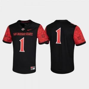 San Diego State Aztecs Jersey #1 Black Untouchable Game Mens