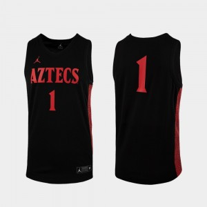San Diego State Aztecs Jersey College Basketball Replica #1 Black For Men