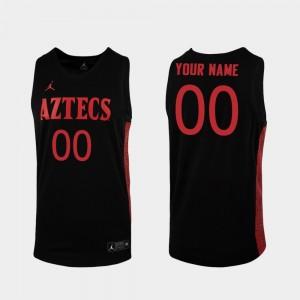 San Diego State Aztecs Custom Jersey College Basketball Black Men Replica #00