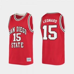 San Diego State Aztecs Kawhi Leonard Jersey #15 College Basketball Red Men Alumni