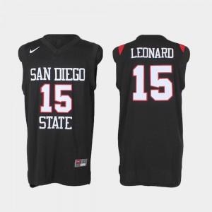 San Diego State Aztecs Kawhi Leonard Jersey #15 College Basketball Black Men's Authentic