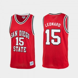 San Diego State Aztecs Kawhi Leonard Jersey Authentic For Men #15 Red College Basketball