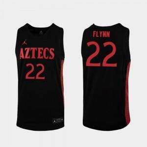 San Diego State Aztecs Malachi Flynn Jersey Black 2019-20 College Basketball Replica #22 For Men