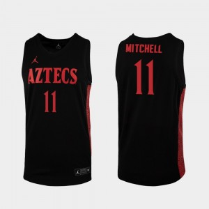 San Diego State Aztecs Matt Mitchell Jersey 2019-20 College Basketball Black Replica Mens #11