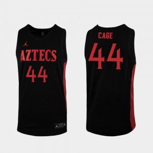 San Diego State Aztecs Michael Cage Jersey Mens 2019-20 College Basketball Replica Black #44