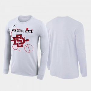 San Diego State Aztecs T-Shirt 2020 March Madness White Our Time Bench Legend Men