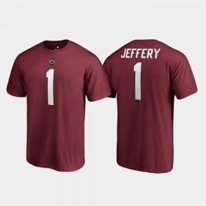 South Carolina Gamecocks Alshon Jeffery T-Shirt College Legends Name & Number Mens Garnet #1