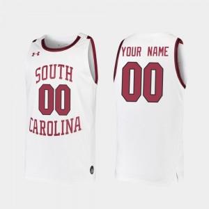 South Carolina Gamecocks Custom Jersey #00 Replica 2019-20 College Basketball White Men's