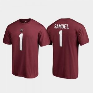 South Carolina Gamecocks Deebo Samuel T-Shirt Garnet Name & Number Mens #1 College Legends