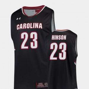 South Carolina Gamecocks Evan Hinson Jersey Black #23 College Basketball Replica Men