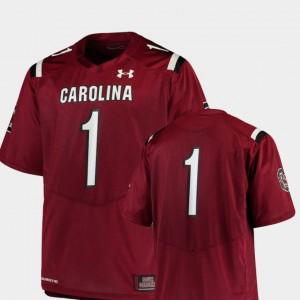 South Carolina Gamecocks Jersey Garnet #1 Men Team Replica College Football