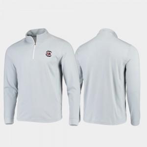 South Carolina Gamecocks Jacket Gameday Quarter-Zip Performance Gray For Men's
