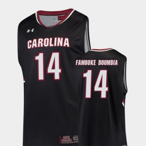 South Carolina Gamecocks Ibrahim Famouke Doumbia Jersey #14 Men's Black Replica College Basketball
