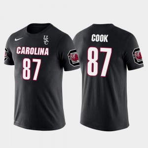 South Carolina Gamecocks Jared Cook T-Shirt #87 Future Stars Oakland Raiders Football Black For Men