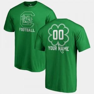 South Carolina Gamecocks Customized T-Shirt St. Patrick's Day Men's Kelly Green #00 Fanatics Big & Tall Dubliner
