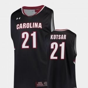 South Carolina Gamecocks Maik Kotsar Jersey Black Mens College Basketball #21 Replica