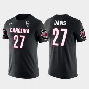 South Carolina Gamecocks Mike Davis T-Shirt Seattle Seahawks Football Future Stars Black #27 Mens
