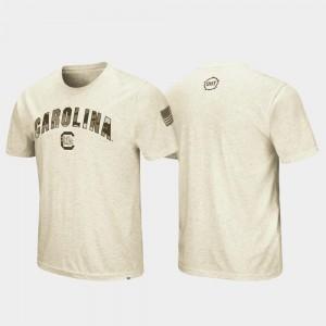 South Carolina Gamecocks T-Shirt Desert Camo OHT Military Appreciation For Men's Oatmeal
