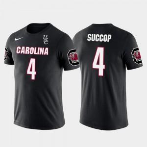 South Carolina Gamecocks Ryan Succop T-Shirt Black #4 Tennessee Titans Football Future Stars Men's