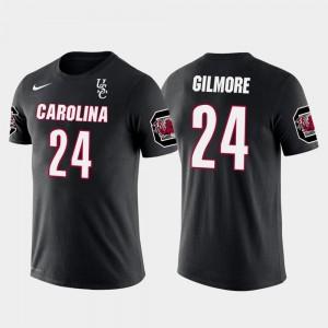 South Carolina Gamecocks Stephon Gilmore T-Shirt Black Men #24 Future Stars New England Patriots Football
