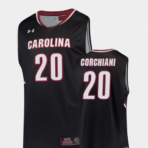 South Carolina Gamecocks Tommy Corchiani Jersey Replica College Basketball #20 Black Men