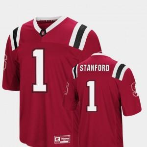 Stanford Cardinal Jersey Foos-Ball Football Colosseum Authentic Cardinal Men's #1