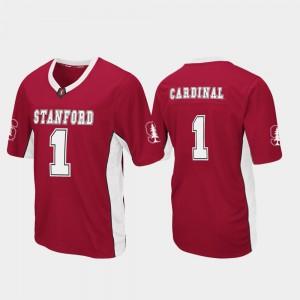 Stanford Cardinal Jersey #1 Cardinal Mens Football Max Power