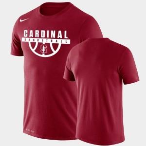 Stanford Cardinal T-Shirt Men's Performance Basketball Cardinal Drop Legend