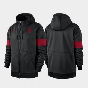 Stanford Cardinal Hoodie Performance Full-Zip 2019 Sideline Therma-FIT Men's Black