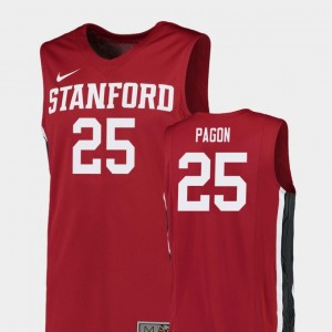 Stanford Cardinal Blake Pagon Jersey For Men's Red Replica College Basketball #25