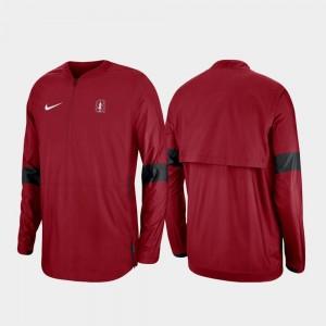 Stanford Cardinal Jacket For Men's 2019 Coaches Sideline Quarter-Zip Cardinal