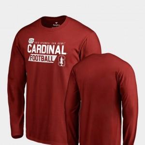 Stanford Cardinal T-Shirt 2018 Sun Bowl Bound For Men Audible Long Sleeve Cardinal