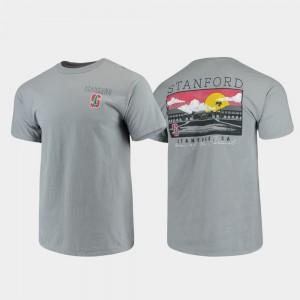 Stanford Cardinal T-Shirt Gray Campus Scenery Comfort Colors Men