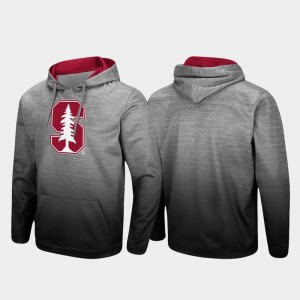 Stanford Cardinal Hoodie Pullover Sitwell Sublimated For Men's Heathered Gray